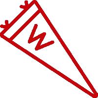 UW Madison pennant flag